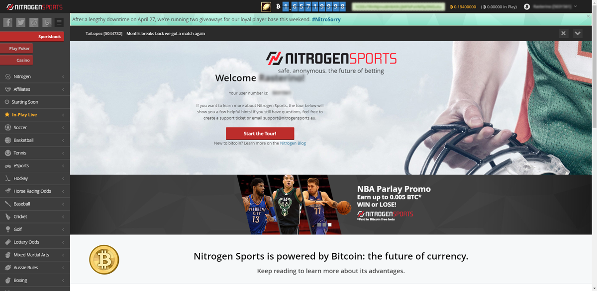 NitrogenSports - bitcoin sportsbook and poker review